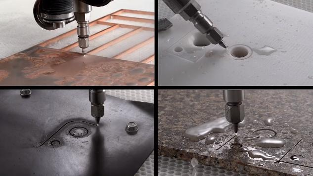 Cutting by water jet